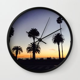 Palm Trees at Sunset Wall Clock