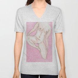 Nude Mini Pink Unisex V-Neck