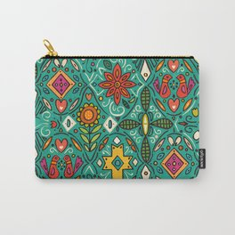 zoryana teal Carry-All Pouch
