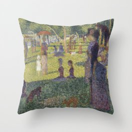 "Study for ""A Sunday on La Grande Jatte"" Throw Pillow"