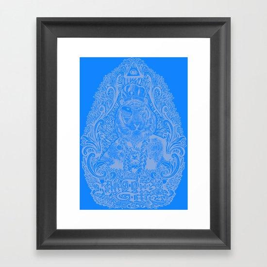 kill the tiger Framed Art Print
