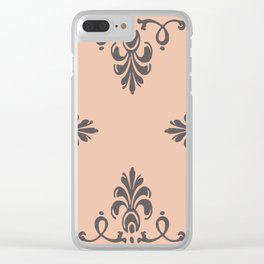 Rococo Floral Elements I Clear iPhone Case