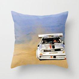 Walter Röhrl Pikes Peak Throw Pillow