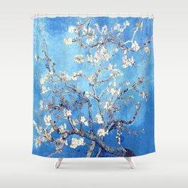 Vincent Van Gogh Almond Blossoms. Sky Blue Shower Curtain
