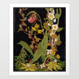 Tom Thomson - Moccasin Flower, Orchids, Algonquin Park - Canada, Canadian Oil Painting - Group of Se Art Print
