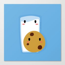 Milk and Cookie Canvas Print