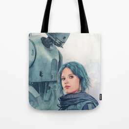 Jyn Erso and K-2so Tote Bag