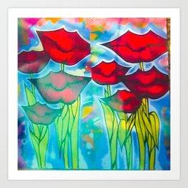 Blossom's Lips Art Print