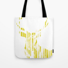 Geometric Yellow Stag Tote Bag