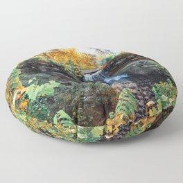 Minnehaha Falls in Autumn-Minnesota Nature Photography Floor Pillow