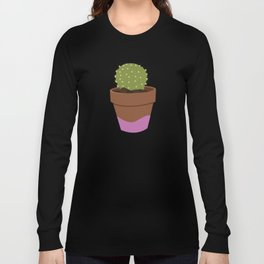 PINK POT CACTUS Long Sleeve T-shirt