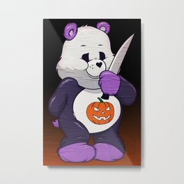 Michael Myers Scare Bear Metal Print