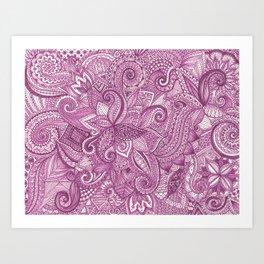 Purpletangle Art Print