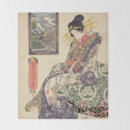 Geisha women Throw Blanket