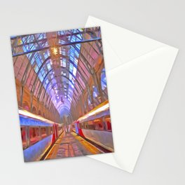 Kings Cross Station Platform Pop Art Stationery Cards