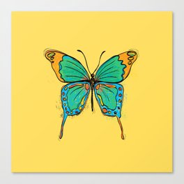 Simple Colorful Butterfly Canvas Print