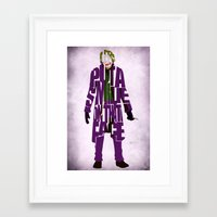 the joker Framed Art Prints featuring Joker by Ayse Deniz