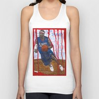 nba Tank Tops featuring NBA PLAYERS - Allen Iverson by Ibbanez