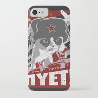 soviet iPhone & iPod Cases featuring grumpy soviet by tshirtsz