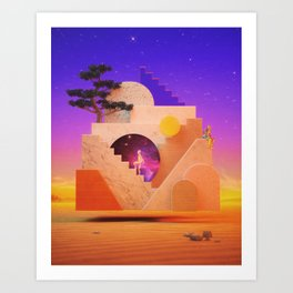 Levitant labyrinth Art Print