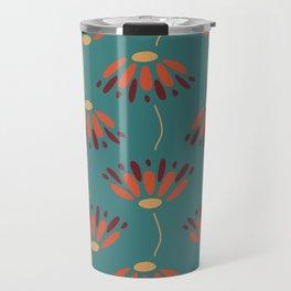 Dueling Flower Pattern Travel Mug