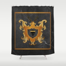 House of Gold and Marble Shower Curtain