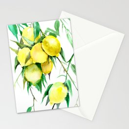 Lemon Tree. lemons kitchen design decor Stationery Cards
