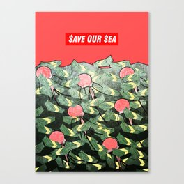 PRIM8: $ea Pollution_$ave Our $ea Canvas Print