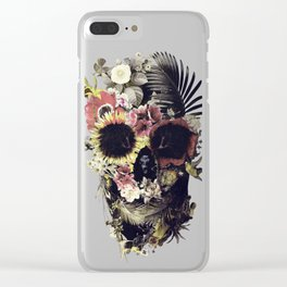 Garden Skull Clear iPhone Case