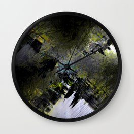 Early morning stroll overlapped with other early morning strollers. Wall Clock
