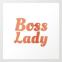 Boss Lady in Cursive Red Rock Art Print
