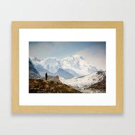 Looking at the sublime Framed Art Print