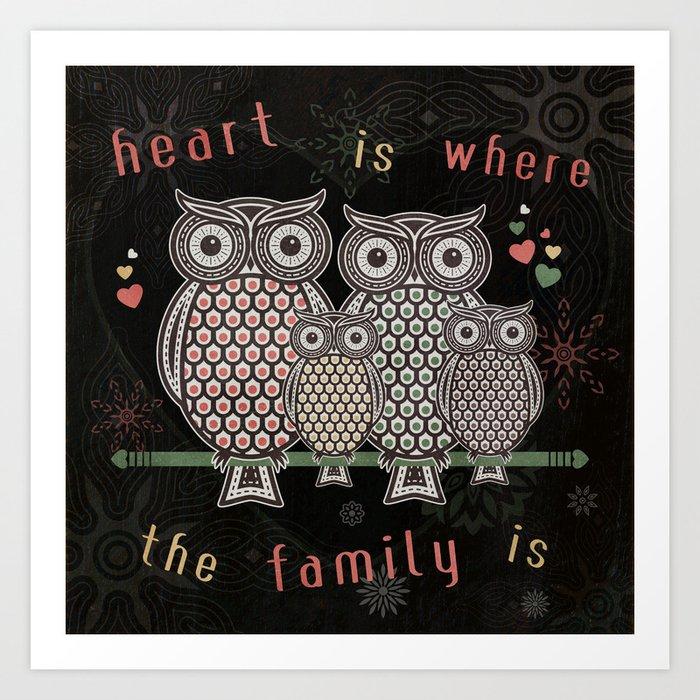 Owl_Love_SA_01b Art Print