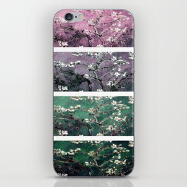 Vincent Van Gogh Almond Blossoms Teal Green Purple iPhone Skin