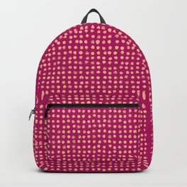 Gold dots on magenta - soft pastel Backpack