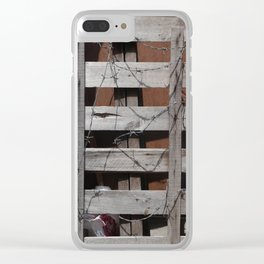 Untitled Planks with Barbs Clear iPhone Case