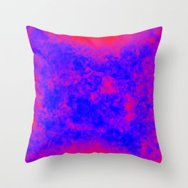 another blue on red Throw Pillow