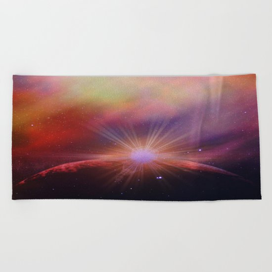Mars rises Beach Towel