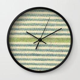 Tonal Green Stripe Wall Clock