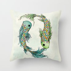 Chasing Tails Throw Pillow