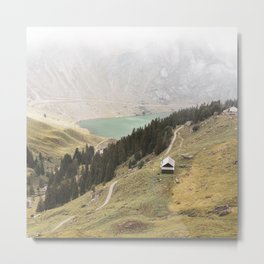 Misty Alps Metal Print