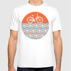 i want to ride my bicycle White MEDIUM Mens Fitted Tee