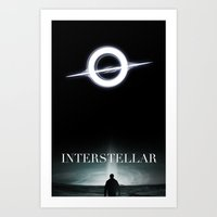 interstellar Art Prints featuring INTERSTELLAR by Tony Vazquez