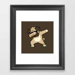 Dabbing Pug Framed Art Print