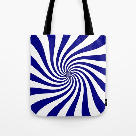 Swirl (Navy Blue/White) Tote Bag