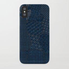 Sashiko - random sampler iPhone Case