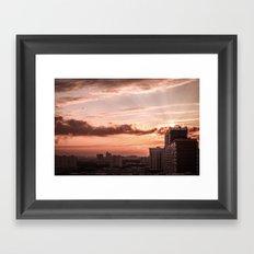 Dawn in the city Framed Art Print