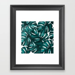 monstera leaves Framed Art Print