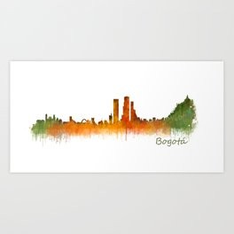 Bogota City Skyline Hq V2 Art Print