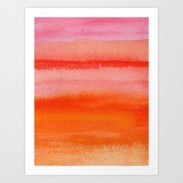 Watercolor Sunset Sky Art Print